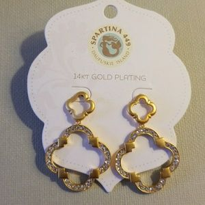 NWT 14kt gold plated earrings